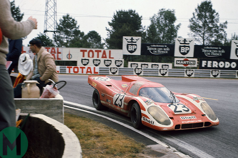 Hans Herrmann and Richard Attwood on the way to 1970 Le Mans victory