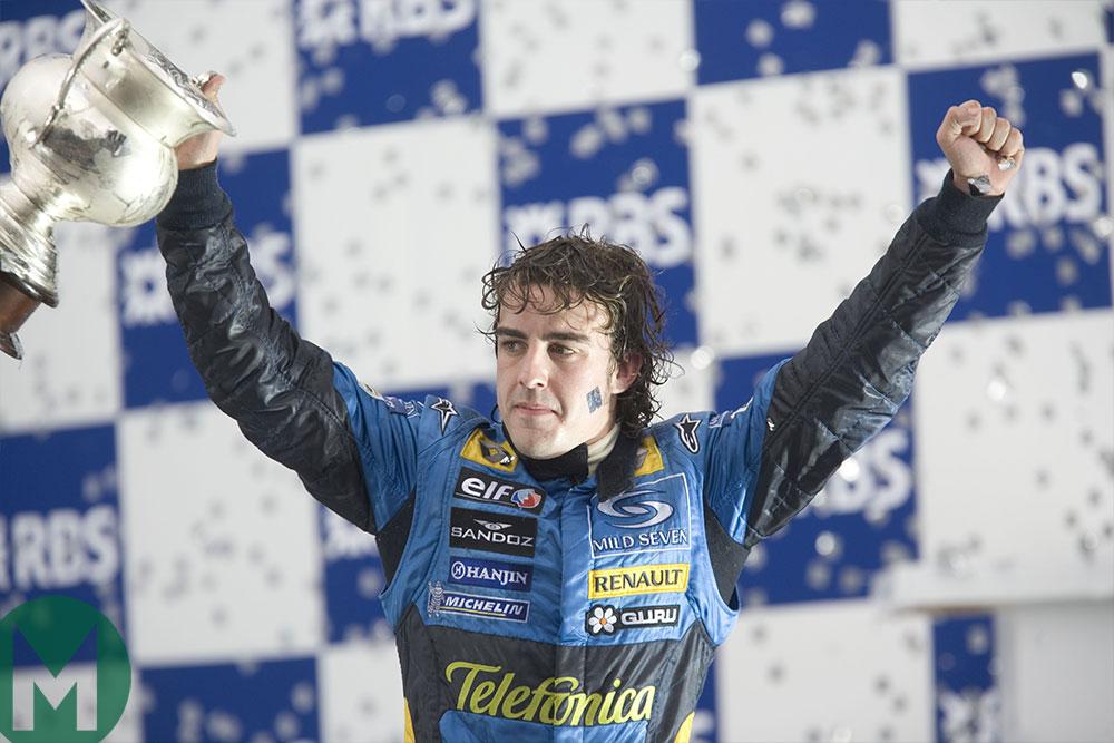 Alonso celebrates 2004 F1 title