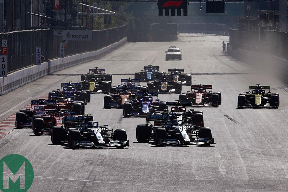 2019 Baku F1 GP start