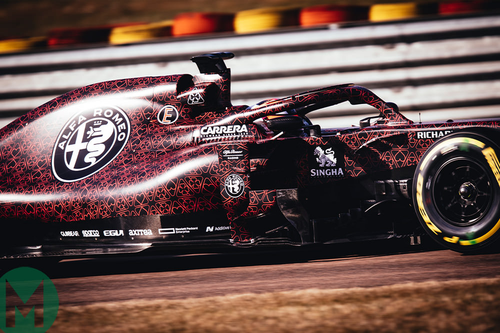 gallery alfa romeo 39 s 2019 f1 testing livery motor sport magazine. Black Bedroom Furniture Sets. Home Design Ideas