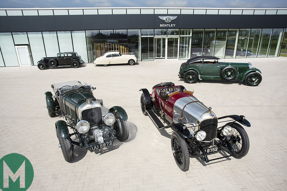 Classic Bentley line up for the company's centenary celebration