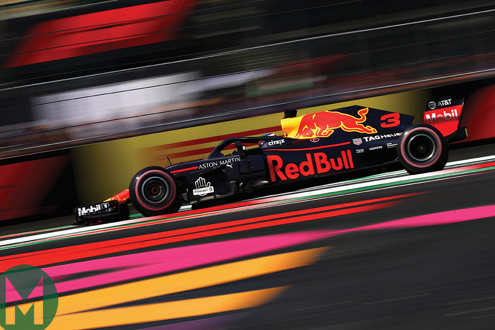 Ricciardo at the 2018 Mexican Grand Prix