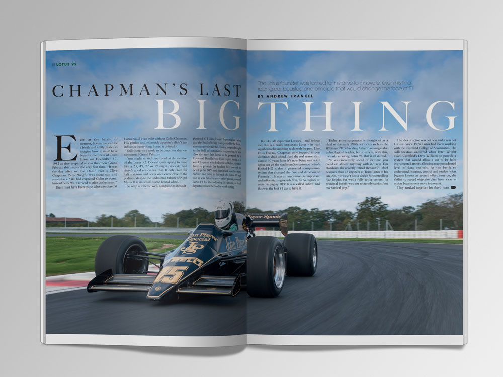 Chapman's last big thing   Motor Sport Magazine Archive