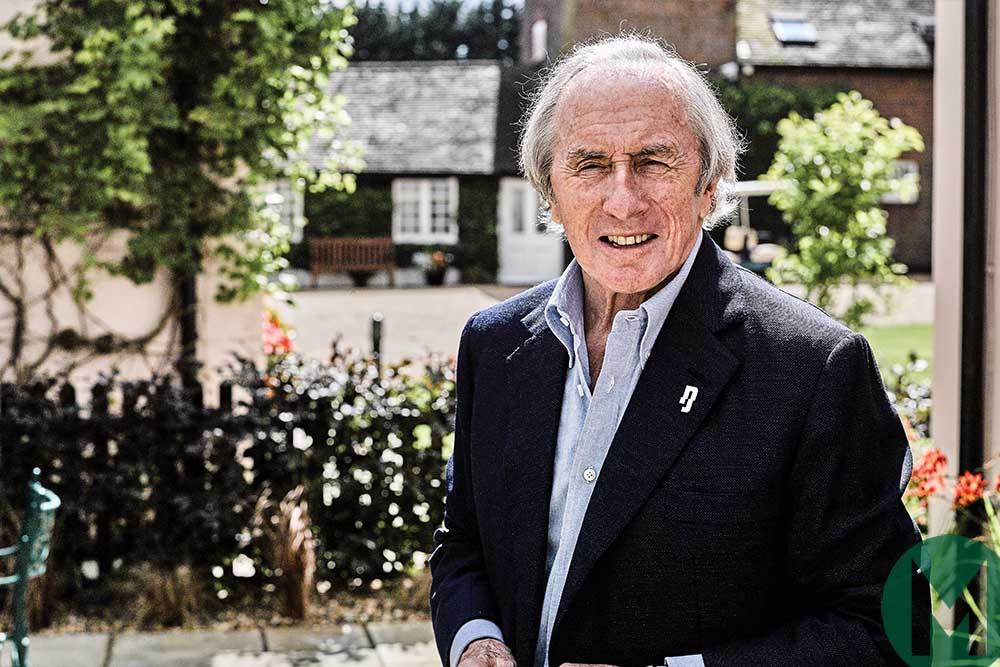 Jackie Stewart at his house
