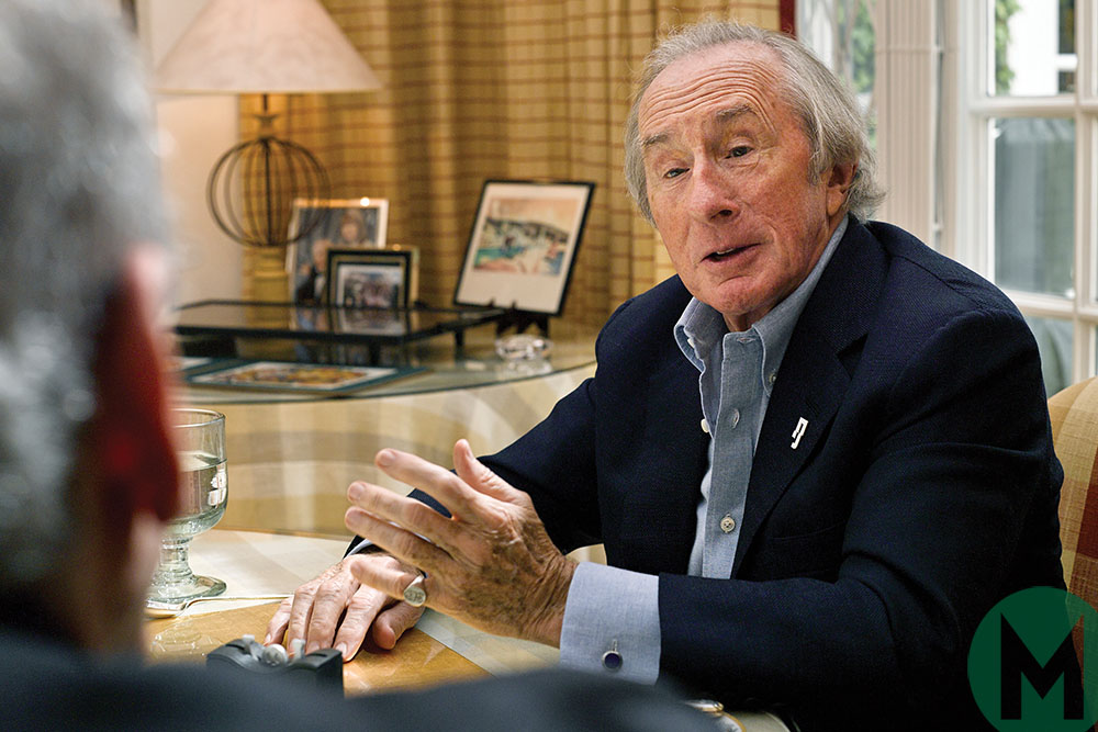 Jackie Stewart at lunch with Motor Sport