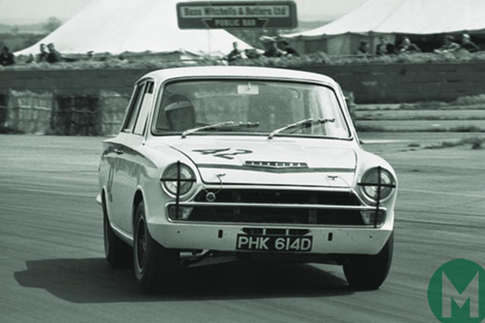 Jim Clark driving a Lotus-Cortina