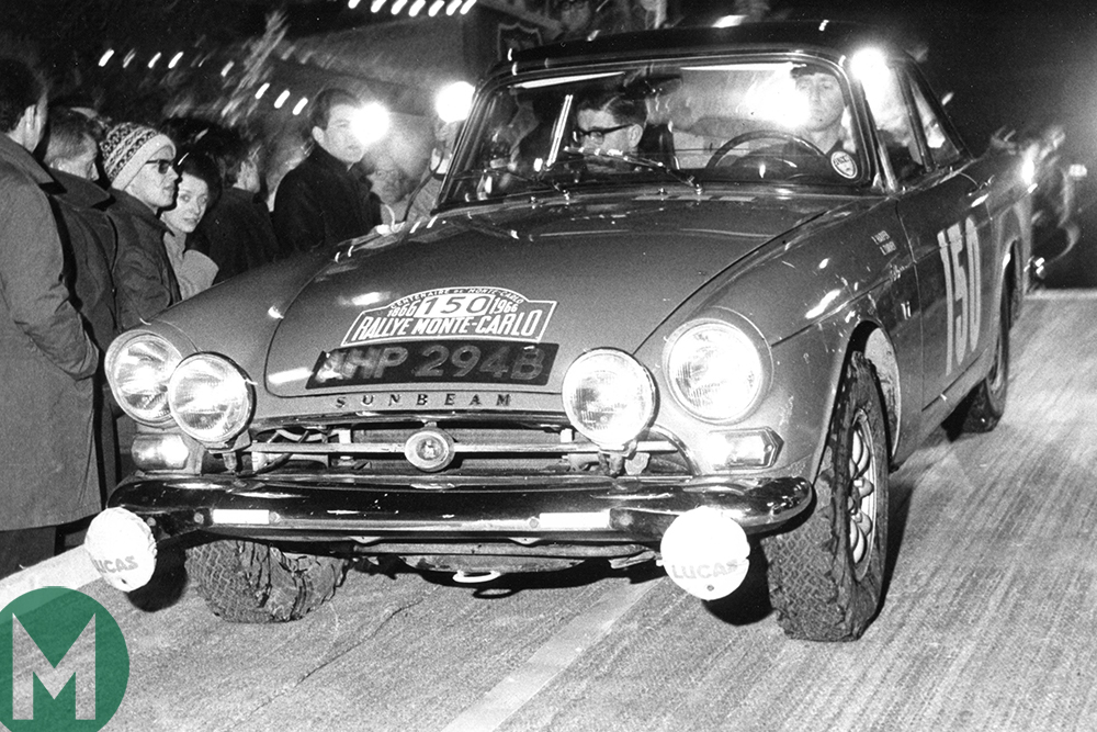 The Sunbeam Tiger in the Monte Carlo Rally