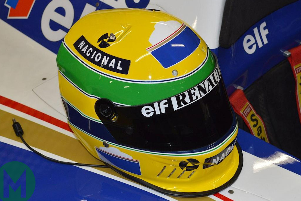 Ayrton Senna's helmet, available for auction