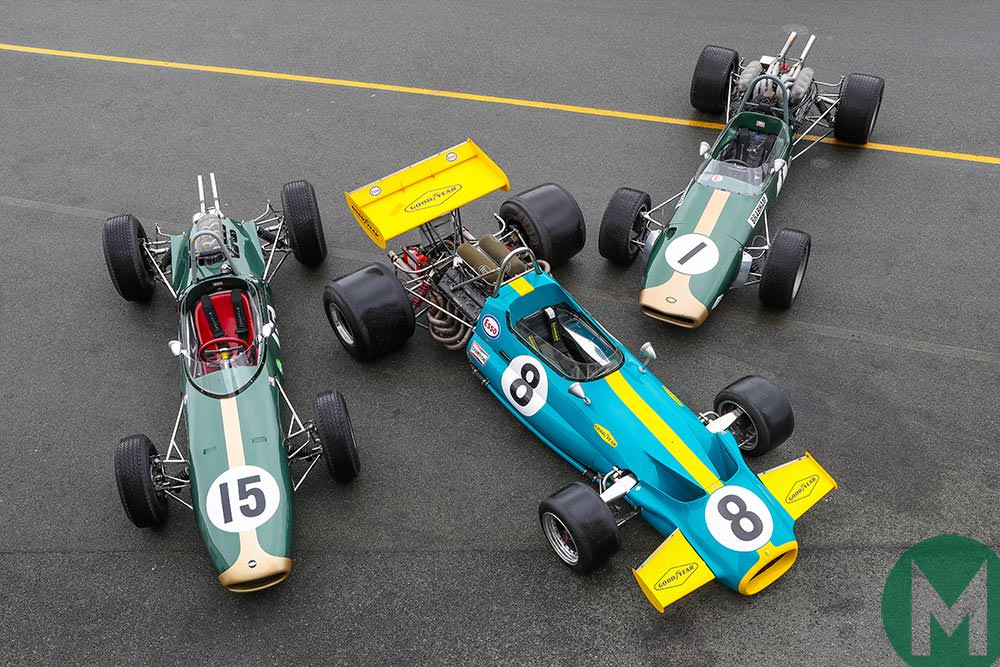 An array of Brabhams for Dickie Meaden to test