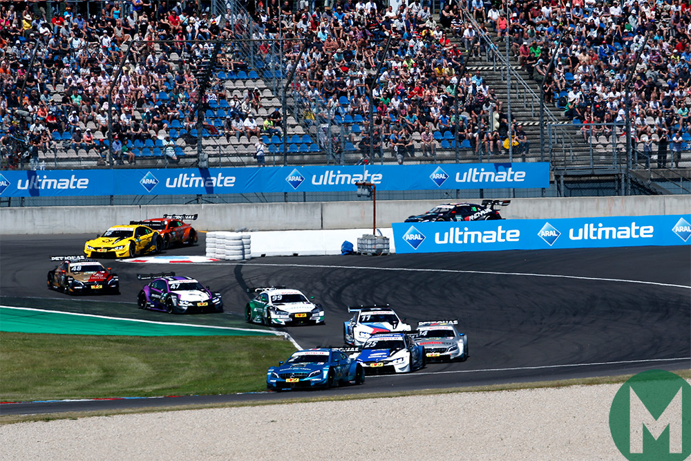 Gary Paffett leads at the Lausitz Eurospeedway in DTM