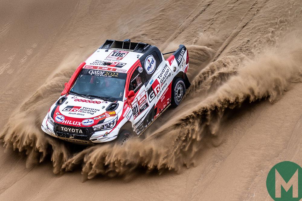 Watch Fernando Alonso try the Dakar-winning Toyota Hilux