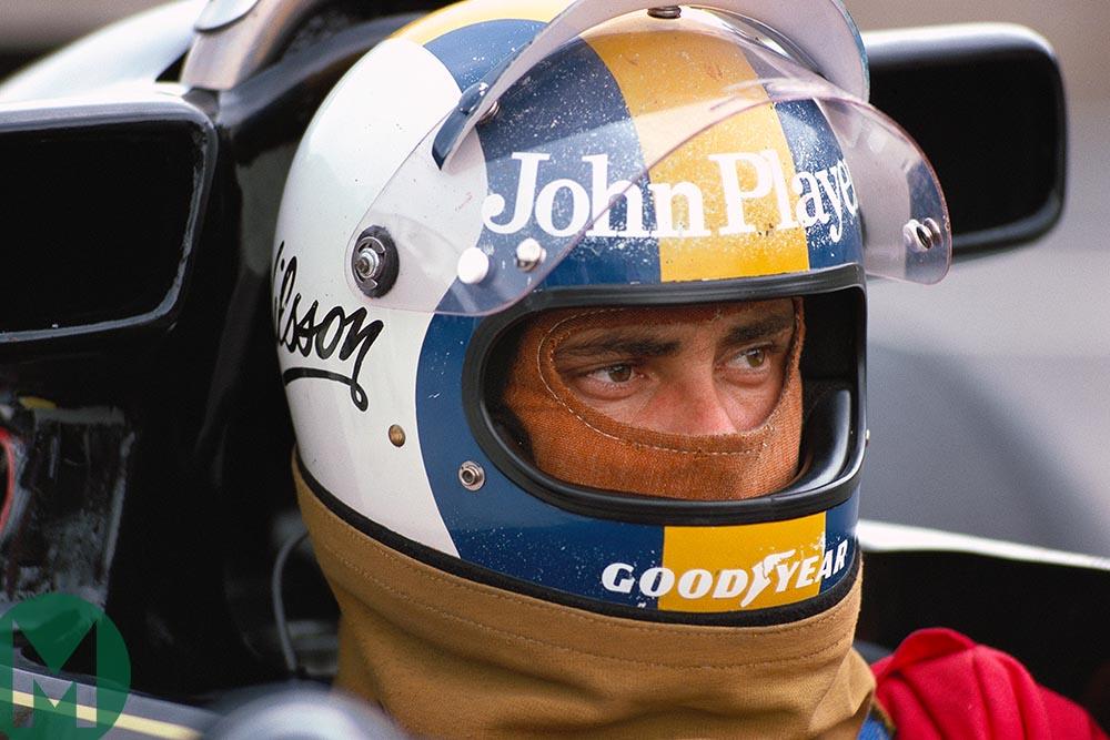 Gunanr Nilsson at the 1976 British Grand Prix