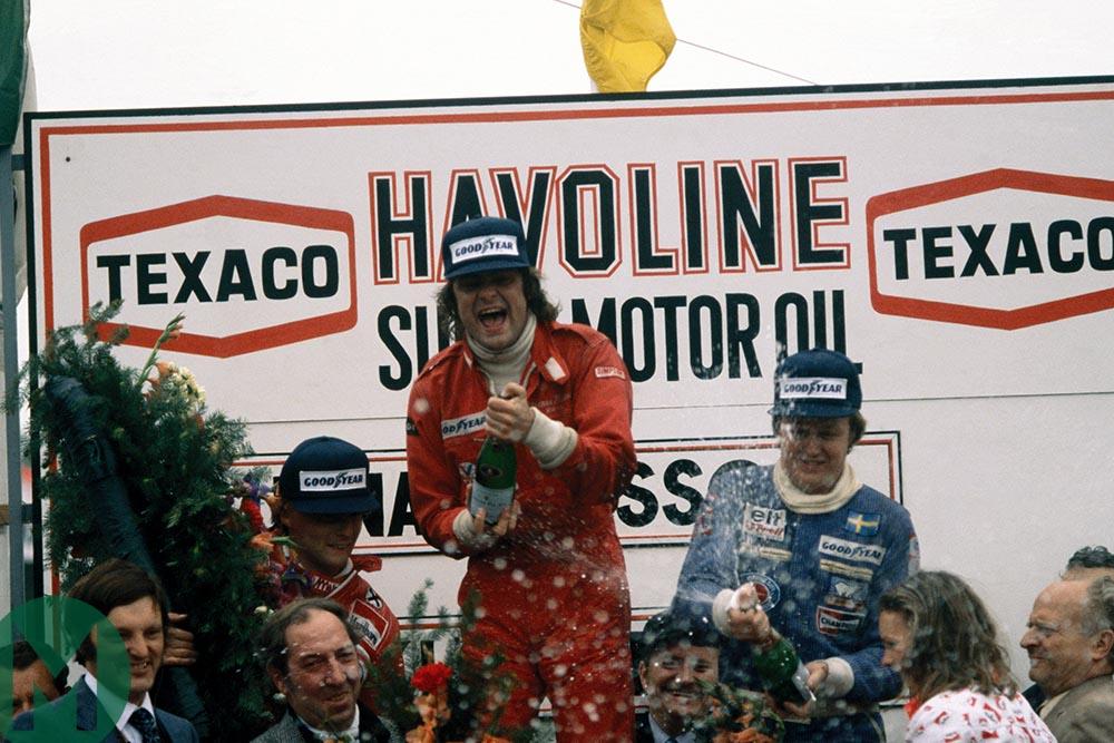 Gunnar Nilsson podium 1977 Belgian Grand Prix