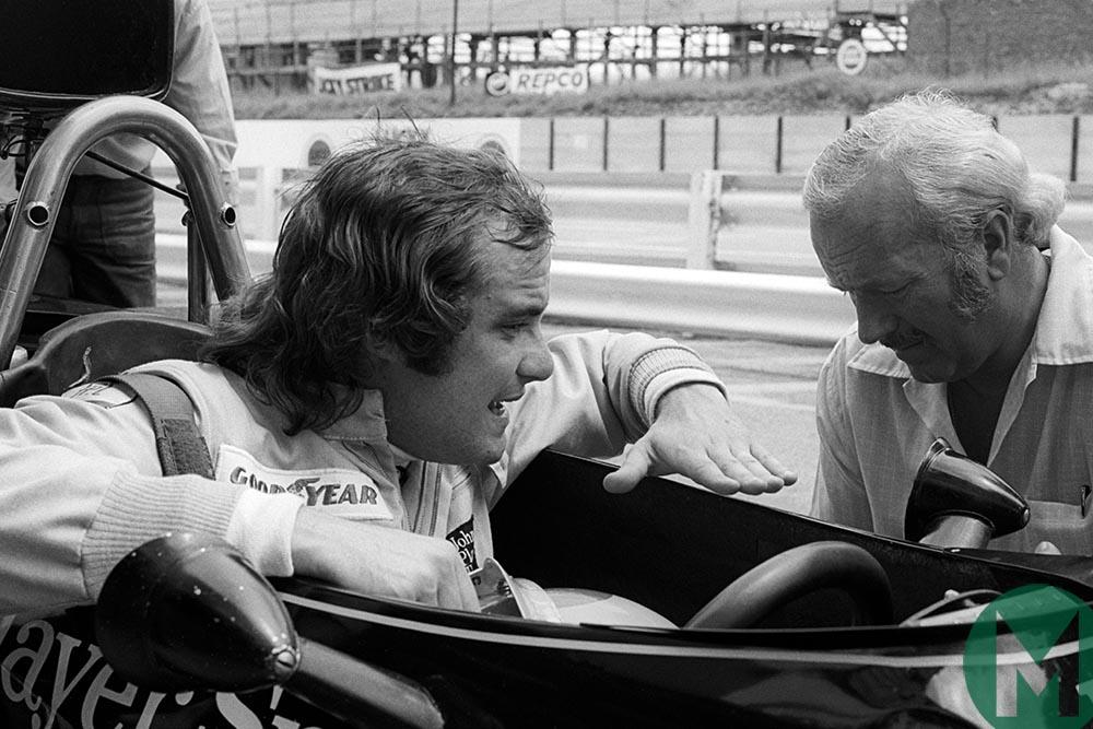 Gunnar Nilsson with Colin Chapman