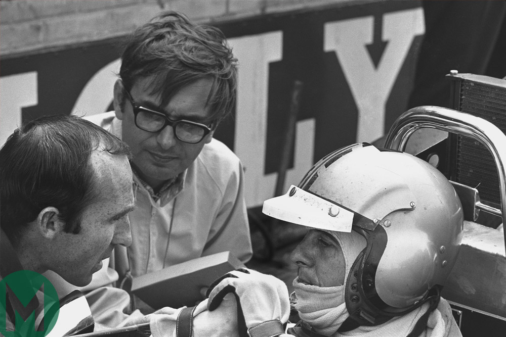 Piers Courage talks to Frank Williams just before his fatal crash