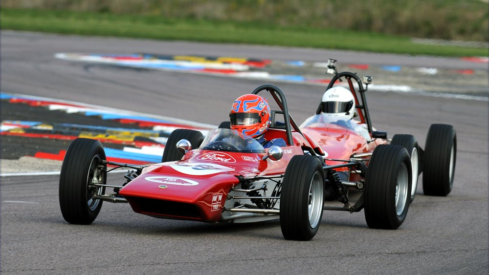 Tiff Needell racing at Thruxton, a bit more recently!