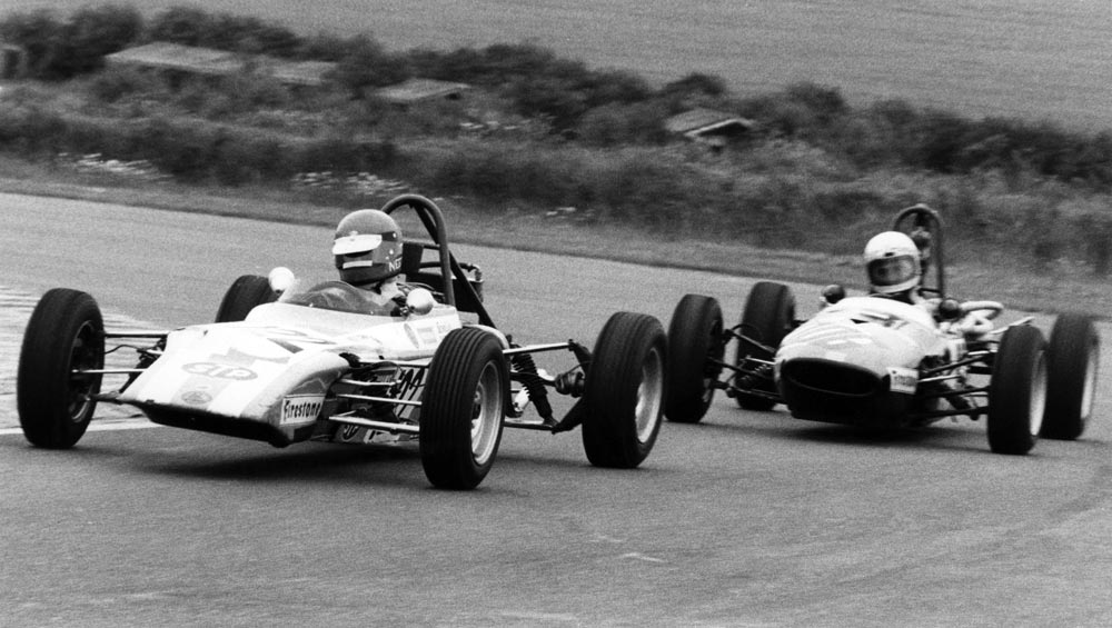 Tiff Needell racing at Thruxton in 1972