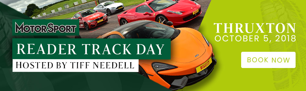 Join Motor Sport magazine at our first ever track day at Thruxton on October 5, hosted by the legendary Tiff Needell. Tickets are still available - click here to find out more!