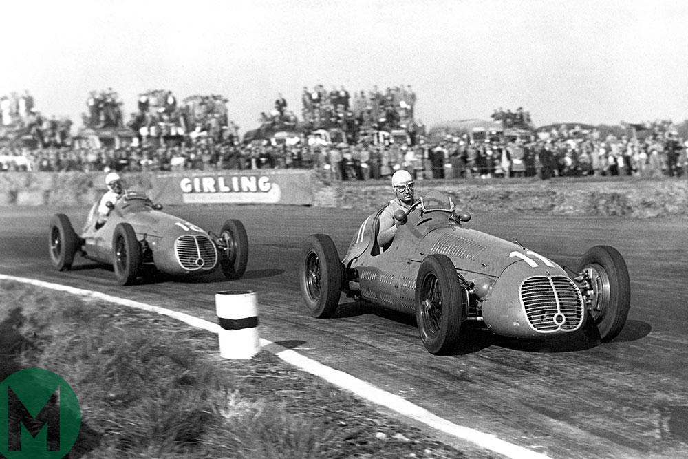 Alberto Ascari and Luigi Villoresi in the 1948 British Grand Prix