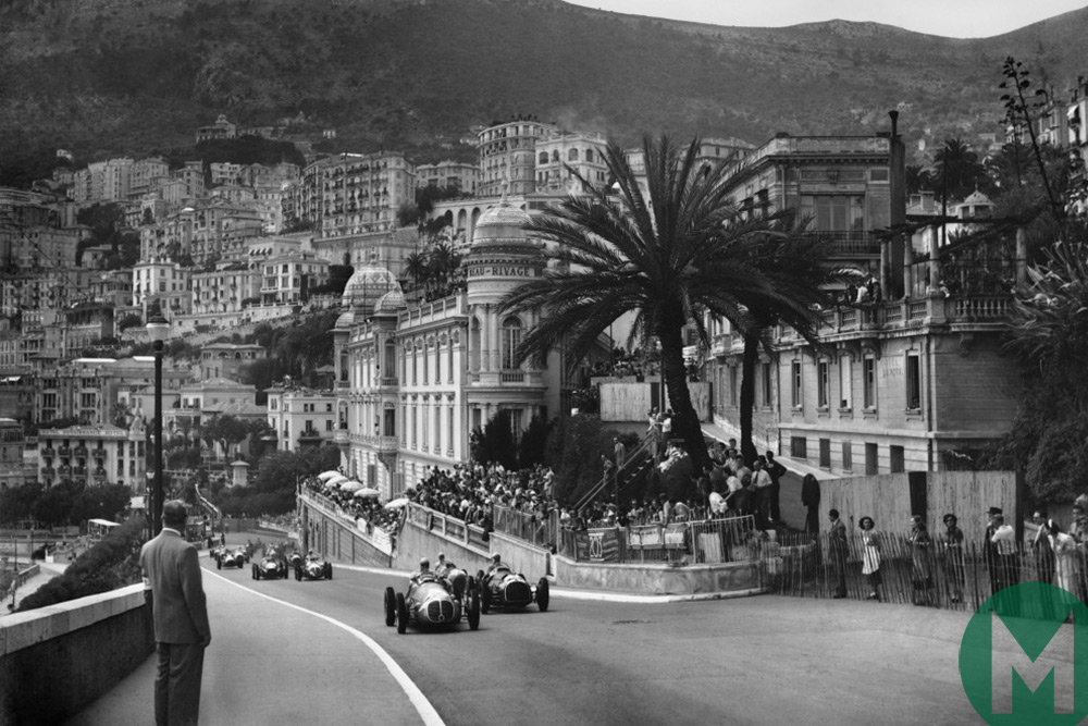Froilan Gonzalez leads at Monaco in 1950