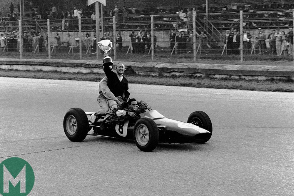 Jim Clark 1963 Italy Colin Chapman