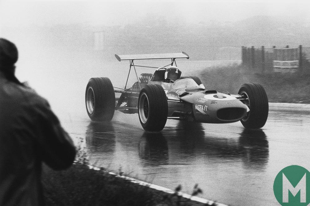 Jackie Stewart on the way to victory at the Nürburgring in 1968
