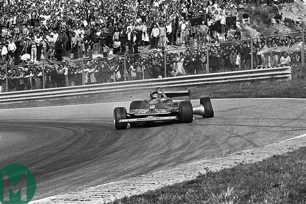Dutch GP 1979 Villeneuve puncture