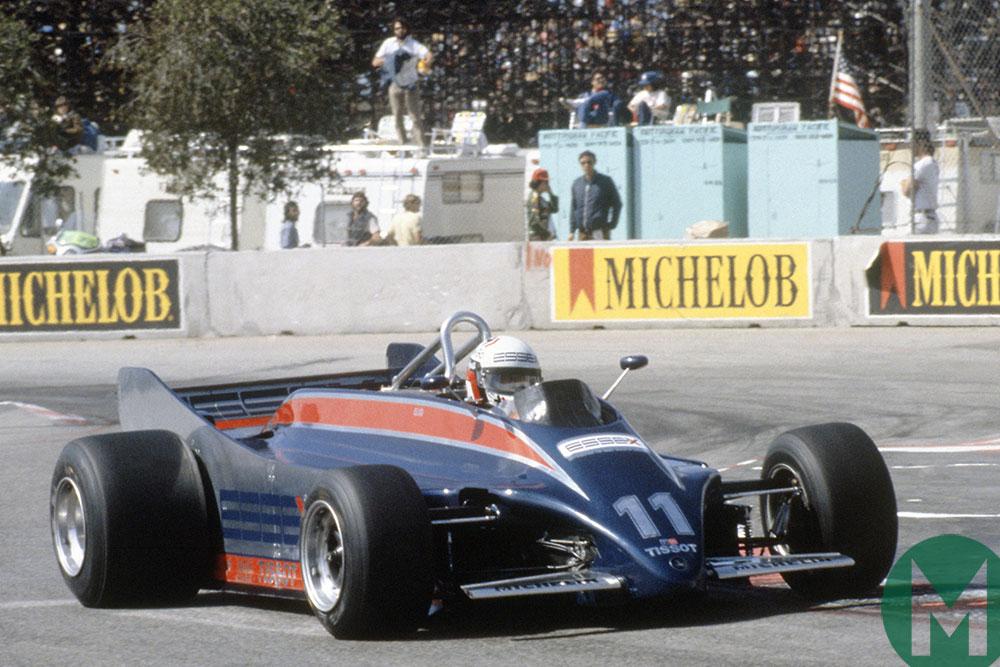 Lotus 88 Elio de Angelis in 1981 Long Beach practice