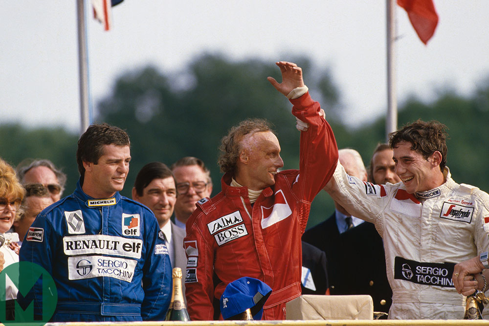 Podium, 1984 British GP