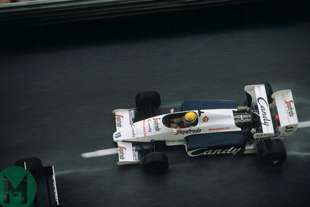 Senna in the rain, Monaco 1984