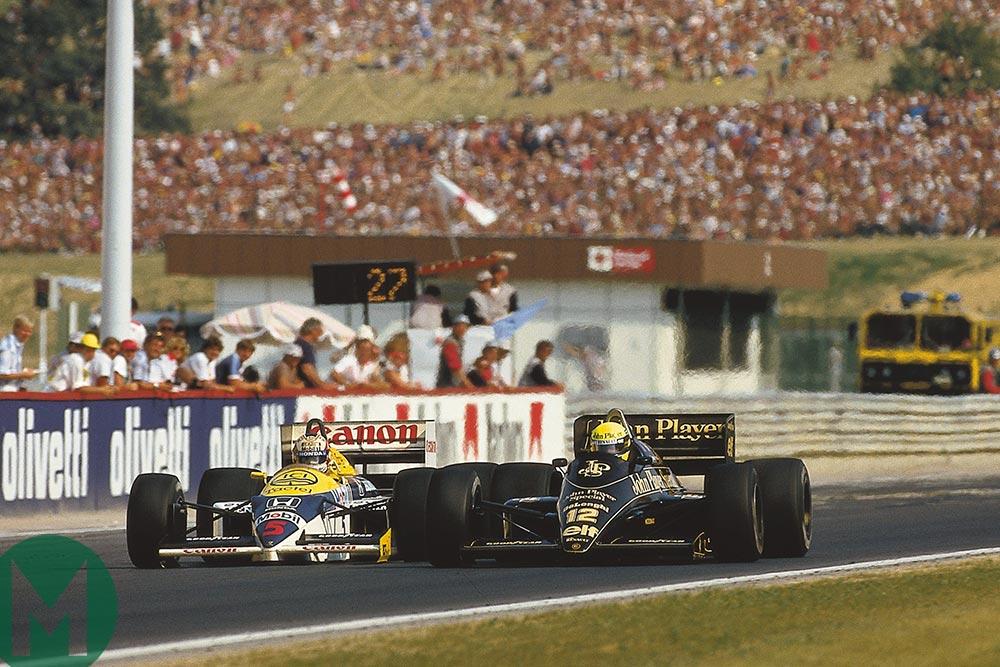 Mansell Senna 1986 Hungary