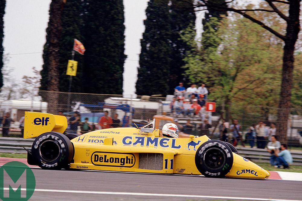 1987 San Marino GP Satoru Nakajima