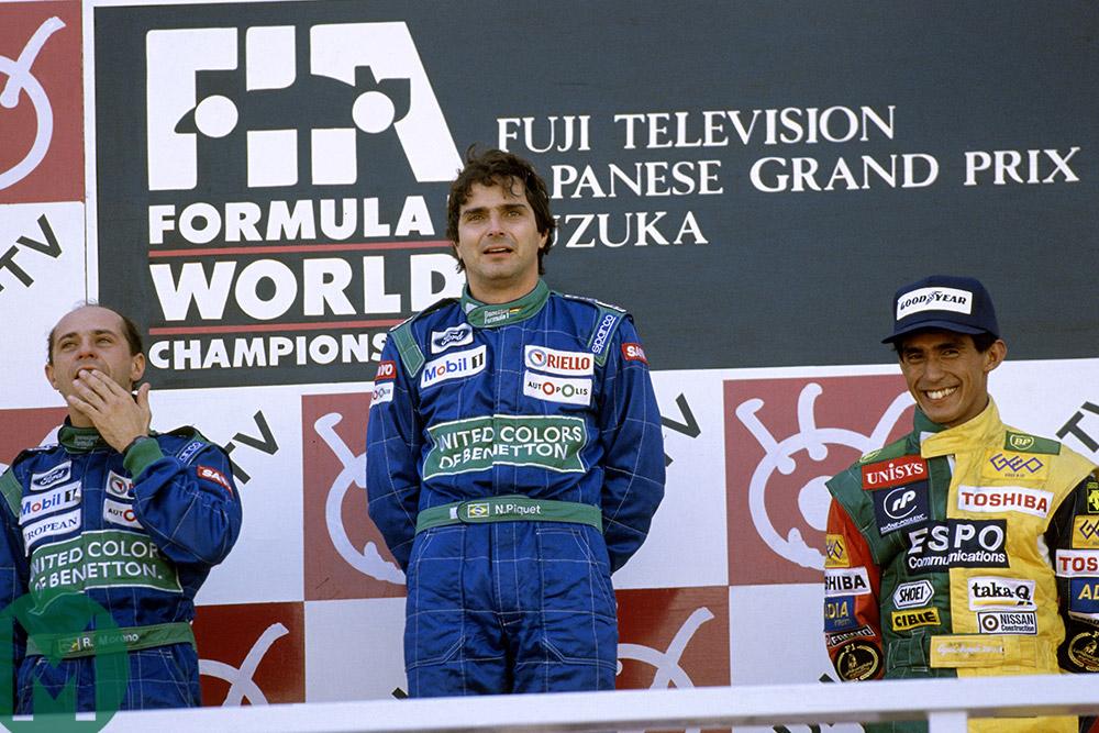 1990 Japanese GP podium