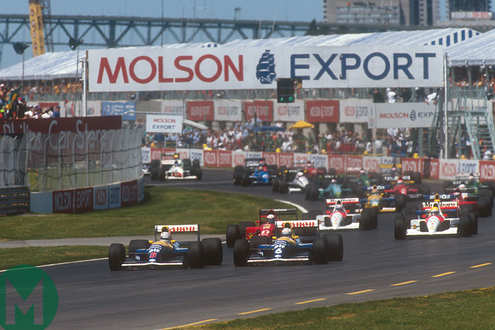 Start of the 1991 Canadian Grand Prix