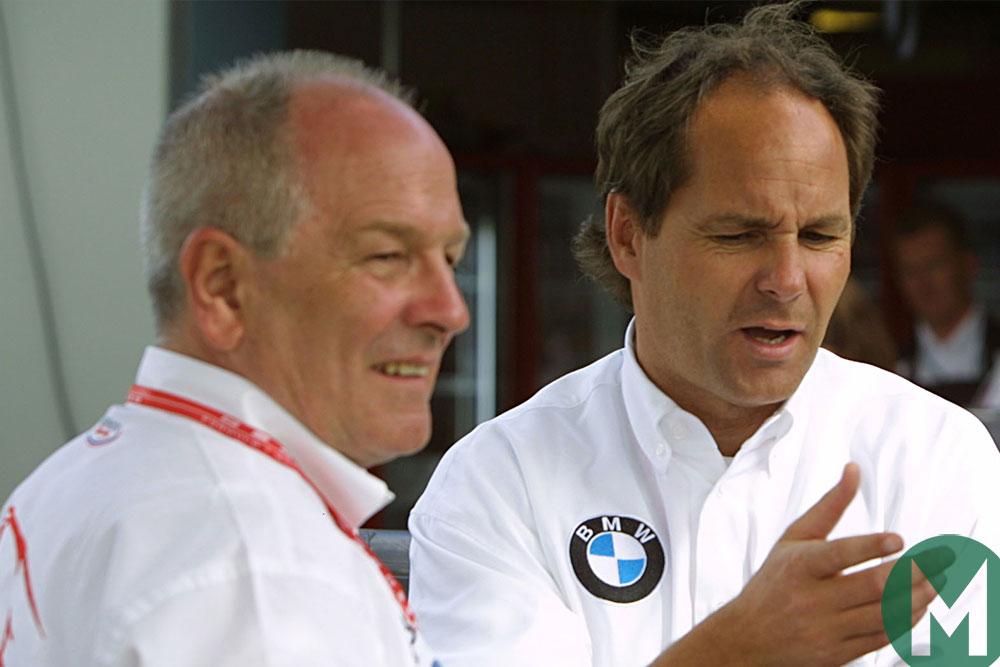 John Hogan with Gerhard Berger 2003 Aus GP