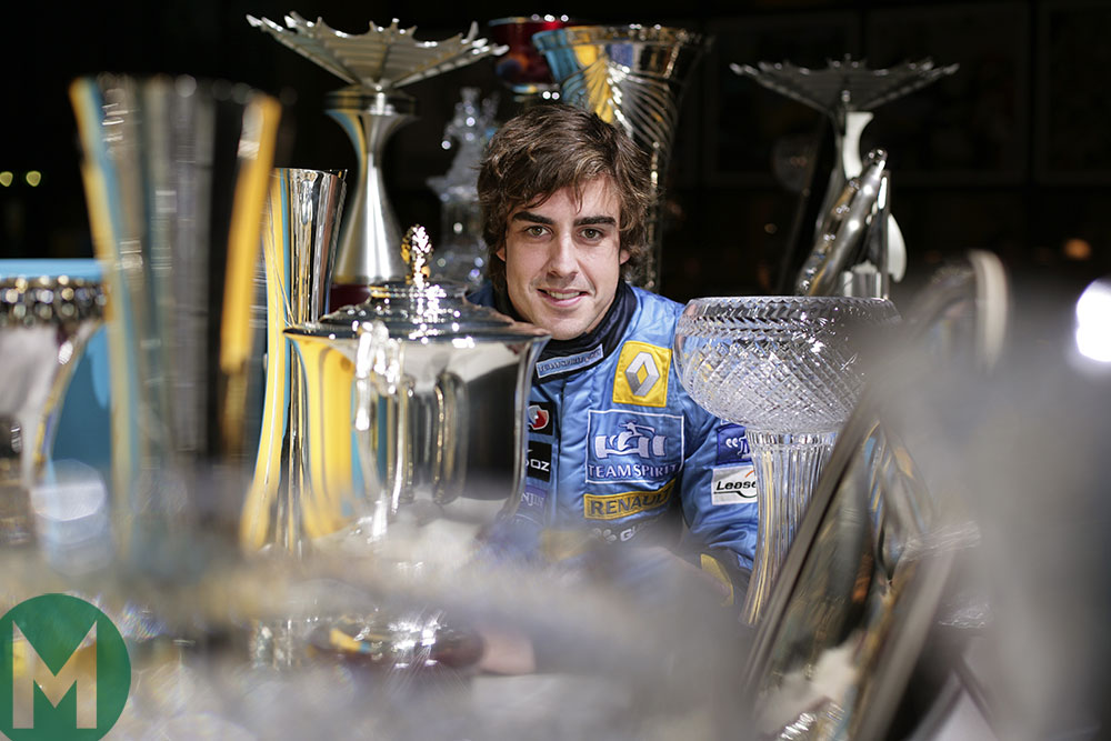 Fernando Alonso F1 trophies 2005