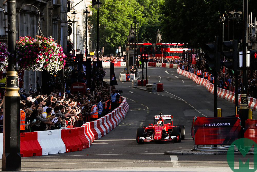 Sebastian Vettel Ferrari at London Live