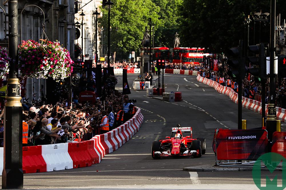 Sebastian Vettel Ferrari at London Live