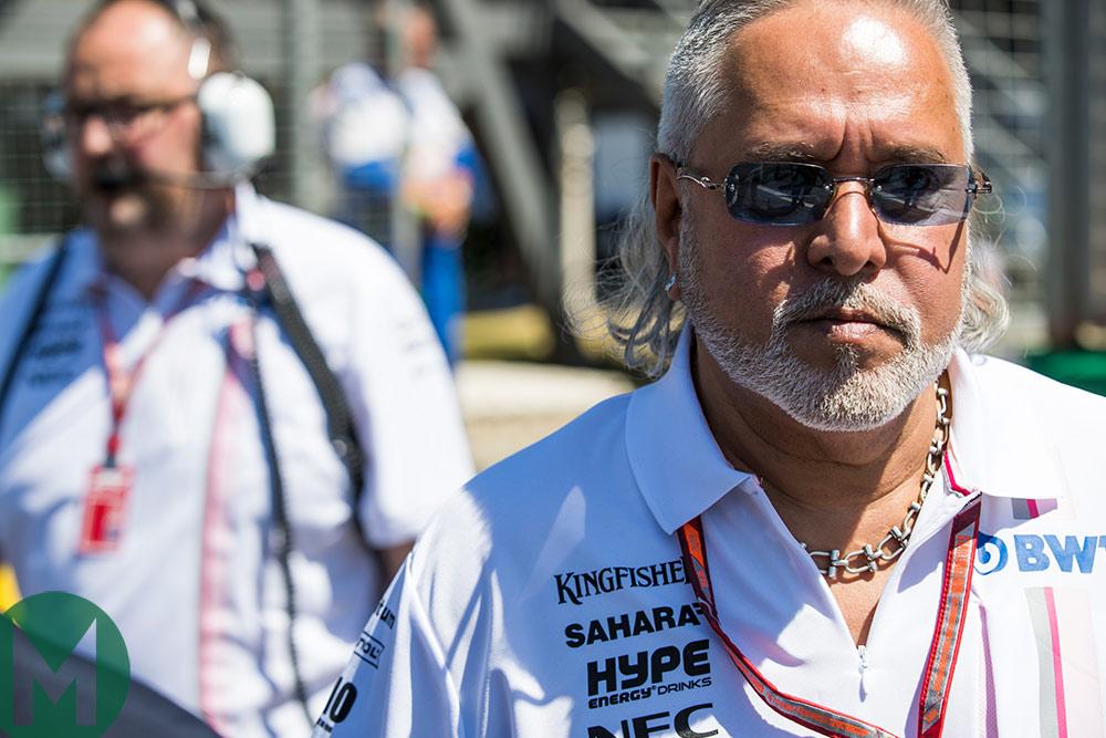 Vijay Mallya at the British Grand Prix