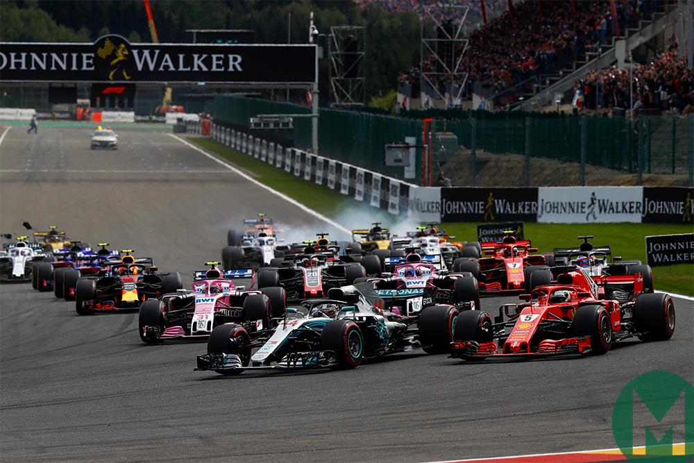 | F1 2018 T.XX | 20/21 Sanciones Gran Premio de Bélgica (Spa) Belgian_grand_prix_start