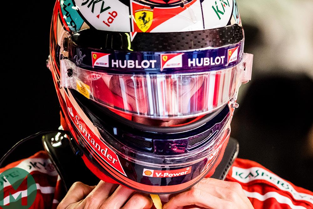 Kimi Raikkonen helmet Monza