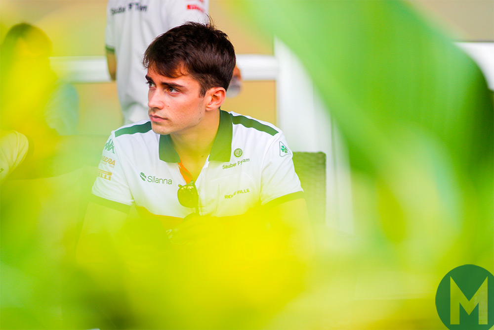 Leclerc the first weekend since being announced at Ferrari