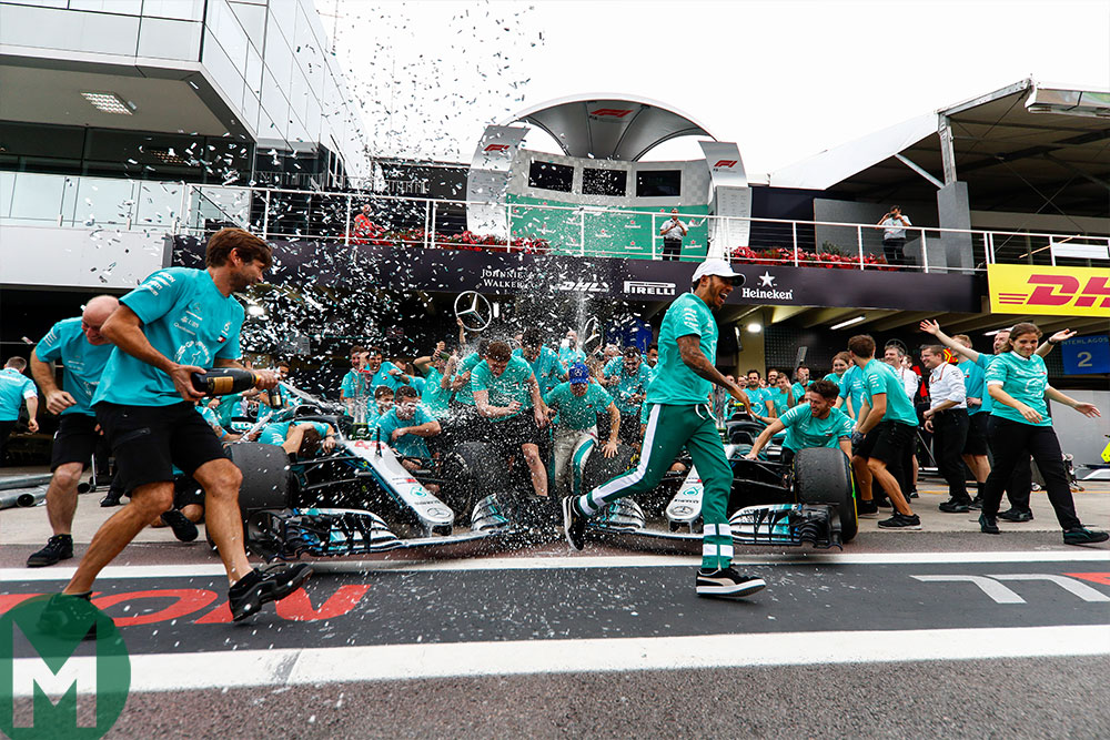 F1 championship celebration 2018