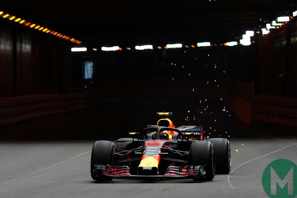 2018 monaco grand prix red bulls fastest in fp1 motor sport magazine. Black Bedroom Furniture Sets. Home Design Ideas