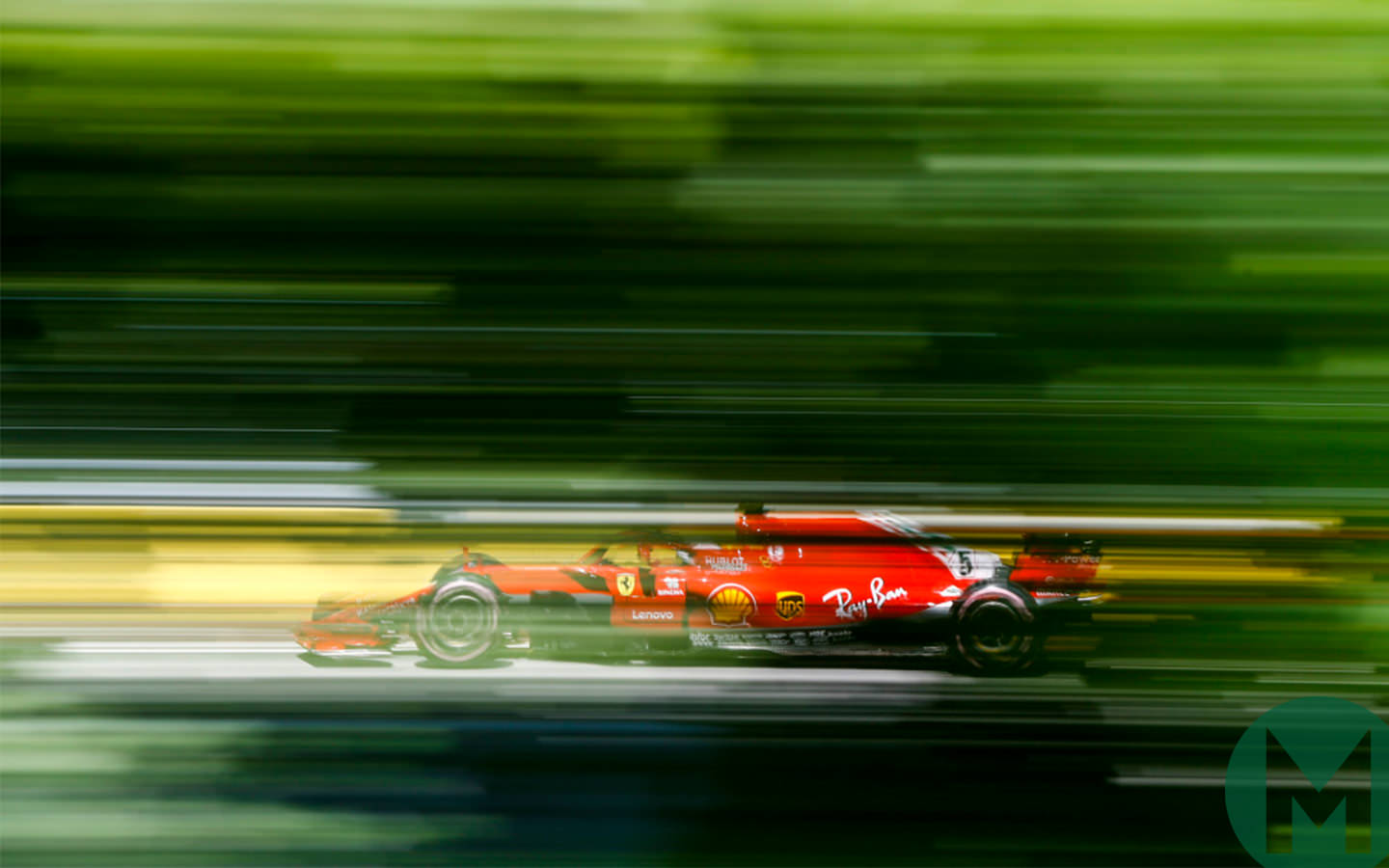 Sebastian Vettel on the way to pole for the 2018 Canadian Grand Prix