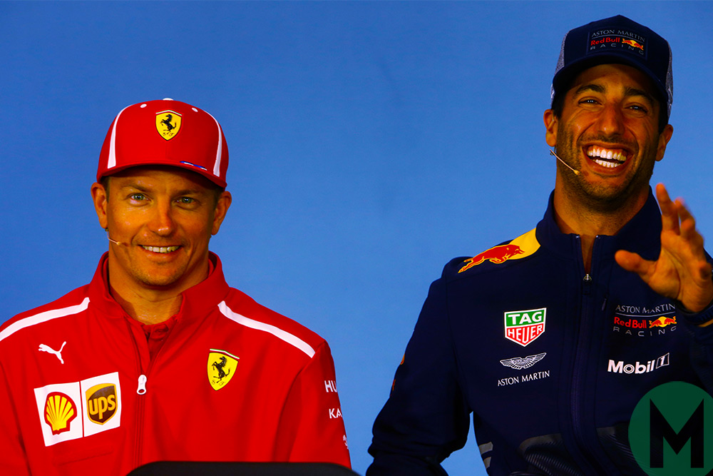 Kimi Raikkonen and Daniel Ricciardo, Austrian GP press conference 2018