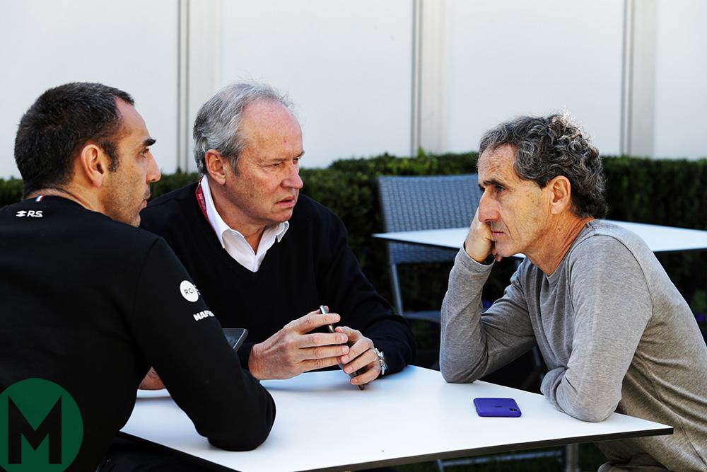 L to R: Cyril Abiteboul, Jerome Stoll, Alain Prost