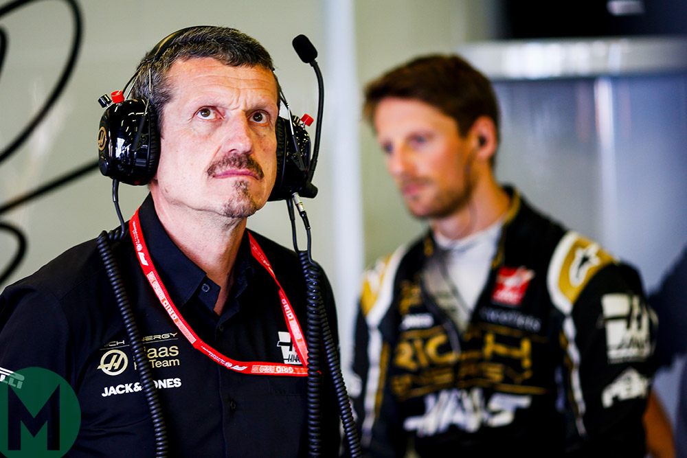 Romain Grosjean Günther Steiner F1