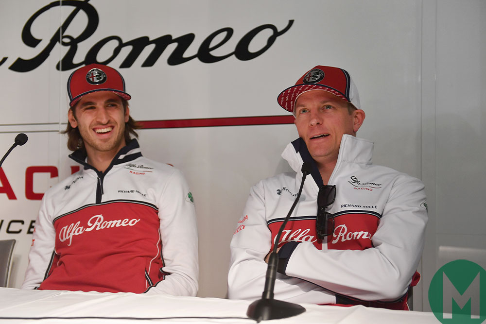 Alfa Romeo Racing Kimi Raikkonen Antonio Giovinazzi