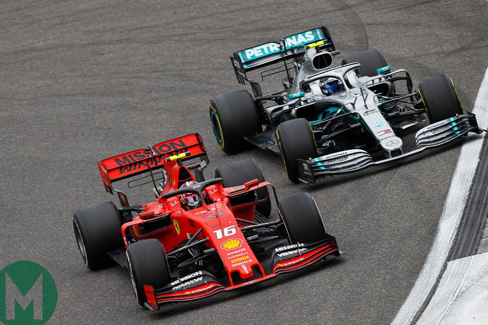 2019 China F1 Merc Ferrari